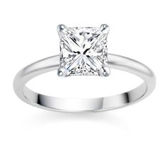 Platinum F-Colour IF-Clarity Certified Fine Diamond Prong Setting Engagement Ring. The diamond is set in Platinum on a Prong setting. Princess Cut Engagement Rings, Platinum Engagement Rings, Solitaire Engagement, Platinum Ring, Halo, Moissanite Wedding Rings, Sparkle, Diamond Cuts, Diamond Rings