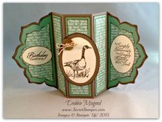 By Debbie Mageed, Stampin Up, Wetlands, Trust in God, Fun Fold Card, Floral Framelits, Masculine, Birthday
