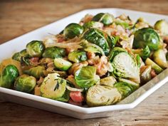 Get Caramelized Brussels Sprouts with Sherry-Dijon Vinaigrette Recipe from Cooking Channel