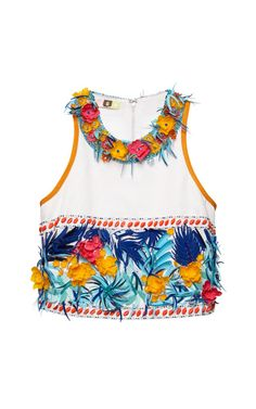 Shop Jungle+Tiki+Embellished+Top+by+MSGM+-+Moda+Operandi