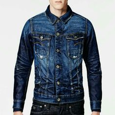 RAW for the Oceans is a collaborative project that takes plastic from the world's oceans and transforms it into innovative denim and apparel. Mens Casual Jeans, Denim Jeans Men, Denim Shirt, Jean Shirts, Smart Dressed Man, G Star Jacket, Denim Jacket With Dress, Stylish Mens Outfits, Denim Trends