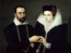 (Attr. to) François Quesnel (ca. 1543–1619)  Portrait of a Couple, ca.1610  Olio su tela, 73 x 96 cm Musée du Louvre