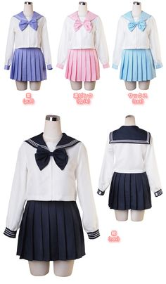 Kinda really like the look of the Japanese sailor seifuku (school uniforms). Navy blue, light blue, or purple would be awesome. Also on Bodyline (bodyline.co.jp).