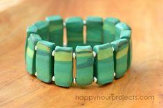 DIY Bracelet : DIY Marble Beaded Bracelet with Polyform Souffle Clay