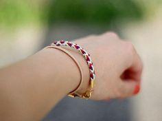 Tutoriel DIY: Tresser un bracelet en fils à broder via DaWanda.com