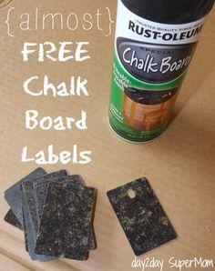 diy Chalk Board Labels