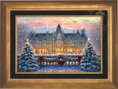 "Biltmore Christmas by Thomas Kinkade 18""""x27"""" framed…"