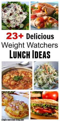 23+ Healthy Lunch Ideas for Weight Loss with Weight Watchers Points Plus http://simple-nourished-living.com/2011/11/22-healthy-lunch-ideas-for-weight-loss/