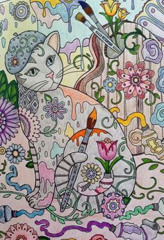Fun and Relaxing  By Brightraven on Mar 19, 2016  I love this coloring book! The drawings are beautiful and so fun to color and get lost in. Amazon.com: Creative Haven Creative Cats Coloring Book (Adult Coloring) (9780486789644): Marjorie Sarnat: Books