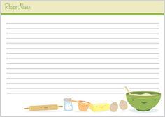 Recipe Card - Baking | Flickr - Photo Sharing!