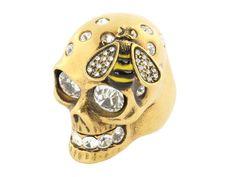Alexander McQueen Skull Bee Ring with Swarvoski crystal eyes ~mine~