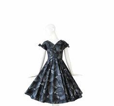 1950s Dress  50s Cocktail Dress  Evening by Vintagephilosophy