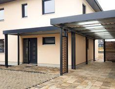 Carport mit Eingang von Siebau