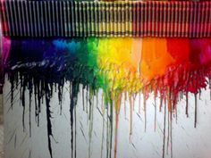 Finally did this!   - Just blow dry crayons