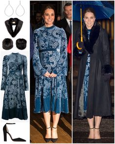 """1,956 Likes, 59 Comments - Catherine Duchess Of Cambridge (@katemidleton) on Instagram: """"A look at The Duchess's two Erdem outfits from the past two nights. She wore the two colours…"""""""