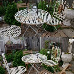 Beautiful rustic shabby metal table & chairs x 2 perfect as is in my opinion for sale DM for price #simplychicthanet  #forsale  #garden  #tableandchairs  #shabby  #cottage  #rustic #rusty #shabbychic  #vintage by simplychicthanet