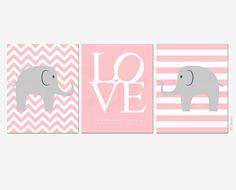 Baby Birth Announcement Elephant Nursery Wall Art by ofCarola, $43.00