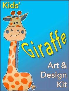 Giraffe Art and Design Kit Craft Kits For Kids, Crafts For Boys, Art For Kids, Crow Art, Giraffe Art, Diy Wall Art, Kids Room, Snoopy, Children