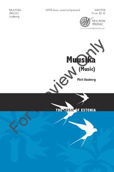 Muusika (SATB ) by Paert Uusberg| J.W. Pepper Sheet Music
