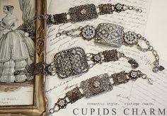 `.Bracelets made from old belt buckles? Interesting. By Cupid's Charm.