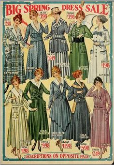 Catalogue for W. Walker Co.) pages, fashion, haberdashery, dry goods etc) Vintage Outfits, Vintage Dresses, Historical Costume, Historical Clothing, Historical Dress, Vintage Advertisements, Vintage Ads, Vintage Style, Edwardian Fashion