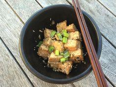 Sesame tofu #tofu Sesame Tofu, Japchae, How To Introduce Yourself, Wicked, Vegetarian, Club, Meals, Dinner, Healthy