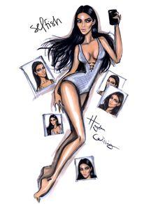 She's so Selfish…Kim Kardashian West by Hayden Williams
