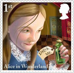 Королевская почта Великобритании выпустила марки с любимыми героями сказки. Ответственный и почетный заказ выполнил художник Грэхем Бэйкер-Смит, используя карандаш и компьютерную графику.