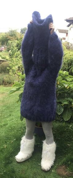 Mohair Sweater, Turtleneck, Gros Pull Mohair, Chunky Knits, Arm Warmers, Fur Coat, Women's Fashion, Knitting, Sweaters