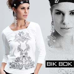 White tendence com aplicações termo-colantes. O inverno esta lindo #fashion #bikbok #inverno2015