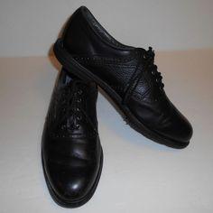 Footjoy Comfort Extra Comfort Black Golf Shoes Men's Size 12 M #FootJoy #GolfShoes