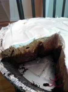 Triple Layer Chocolate Pie via www.lindsayblogs.com #coolwhip
