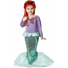 Little Mermaid Costumes: Ariel Costumes for Children Adults (with an Ursula Costume for the Naughty) Little Girl Costumes, Little Mermaid Costumes, Mermaid Halloween Costumes, Ariel Costumes, Little Mermaid Parties, Halloween Kids, The Little Mermaid, Cosplay Costumes, Mermaid Top