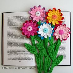 068 Gerber Flower Bookmark pattern by LittleOwlsHut
