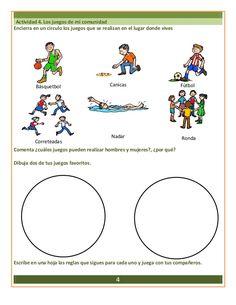 Actividad 4. Los juegos de mi comunidad Encierra en un círculo los juegos que se realizan en el lugar donde vives Básquetb...