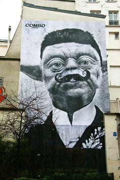 Paris 2 - rue d'Aboukir/rue des petits carreaux - street art - combo