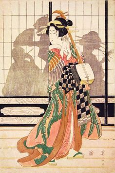 blackcoffeecinnamon: «Кикагава Айзан (1787-1867) 菊 川 英 山 Courtesan с Shamisen, ca.1810»