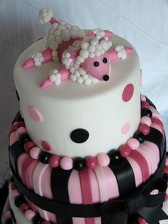 Poodle cake... SO CUTE! :)