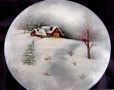 Grab a cup of hot cocoa, some brushes and acrylics and get ready to paint this cozy winter landscape! Winter Delight Holiday Bentwood Box by Mary Wiseman