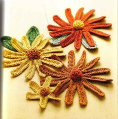 Flores em crochê - guxing - Álbuns da web do Picasa...free crochet schema!