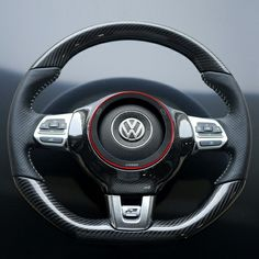 TID Carbon Steering Wheel Trim for MK6 GTI, Jetta GLI  MK3 Scirocco