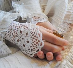 Wedding Handmade Crochet cuffs Cotton Elegant Stylish Modern Delicate