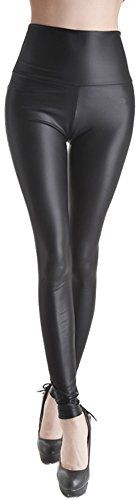 Stretch Faux Active Tight Leather Leggings For Womens Girls Junors Black XL      Check 397a4f2d750ae