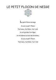 le petit flocon de neige