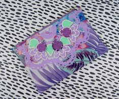 Your place to buy and sell all things handmade Floral Print Fabric, Floral Prints, Holiday Wardrobe, Purple Glitter, Clutch Bags, Green And Purple, Linen Fabric, Lilac, Addiction