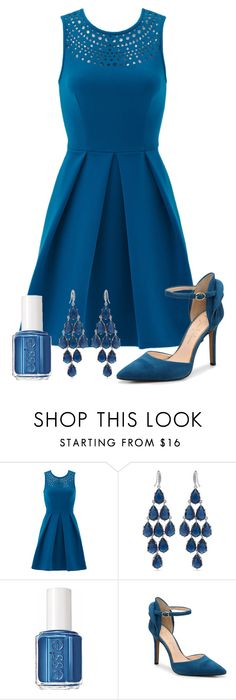"""""""Pantone Spring: Snorkel Blue"""" by mary-grace-see on Polyvore featuring Amanda Uprichard, Carolee, Essie, Blue, pantone, snorkel, spring2016 and SnorkelBlue"""