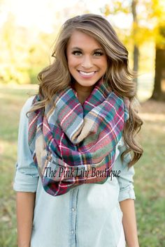 The Pink Lily Boutique - Oversized Blanket Scarf, $28.00 (http://thepinklilyboutique.com/oversized-blanket-scarf/)