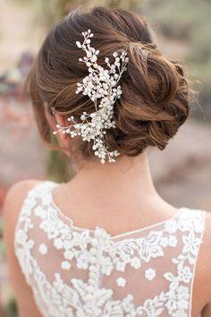 60 acessórios de cabelo para noivas