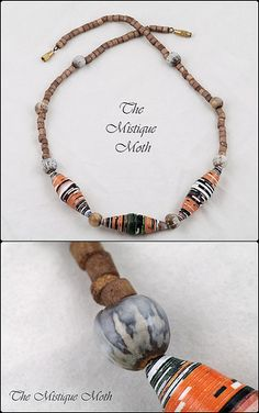 paper bead necklace | Flickr - Photo Sharing!