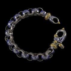 Laurel Leaf Hook Bracelet Engraved Collection by BowmanOriginals, $2475.00